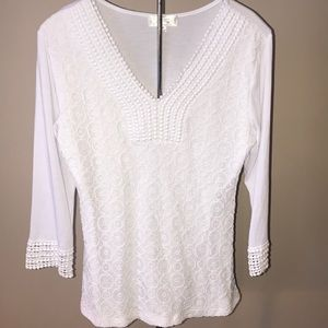 Shannon Ford White Lace Tunic